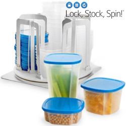 Envases de Plástico Lock Stock Spin (49 Piezas)